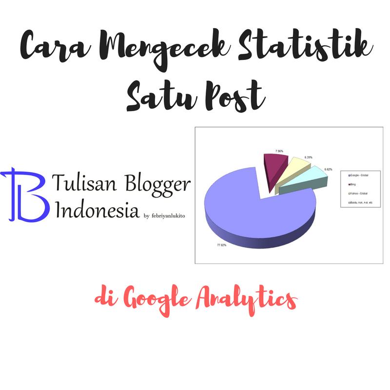 cara mengecek statistik satu blog post di google analytics