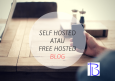 pilih self hosted atau free hosted blog