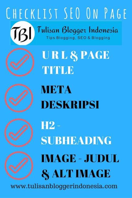 daftar seo on page checklist untuk blogger indonesia
