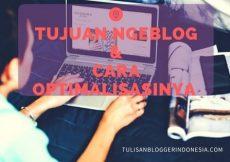 optimaliasi tujuan ngeblog ala tulisan blogger indonesia