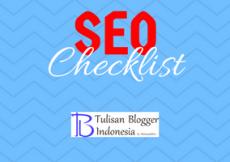 infografis seo checklist untuk blogger