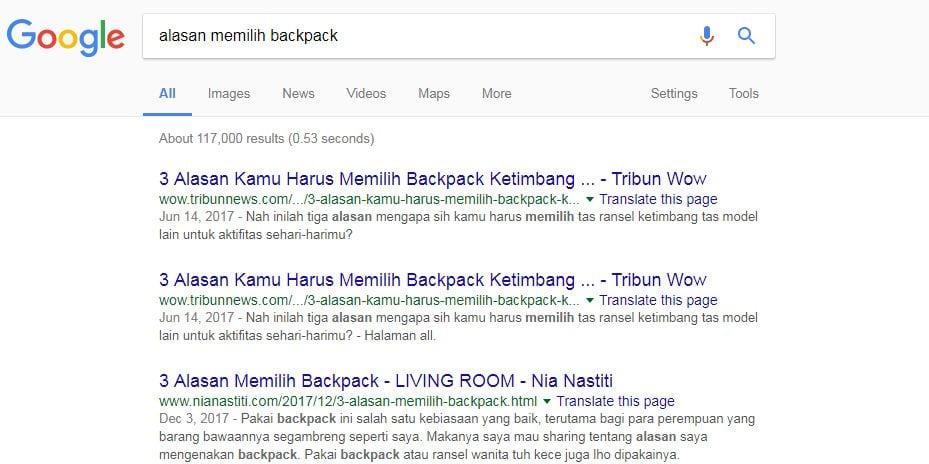 jenis tujuan pencarian keyword intent