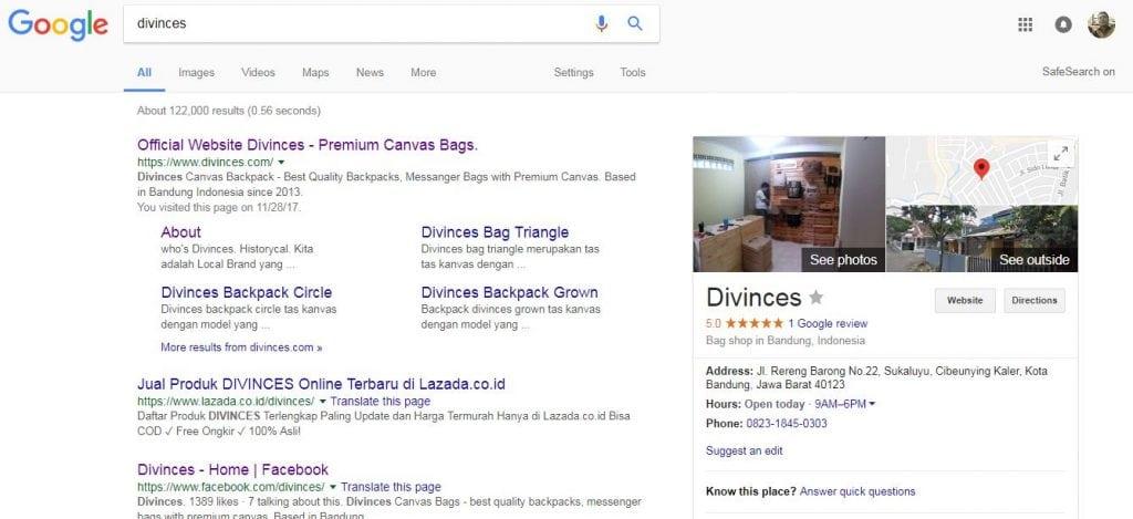 tujuan pencarian navigasi atau keyword intent navigatiional