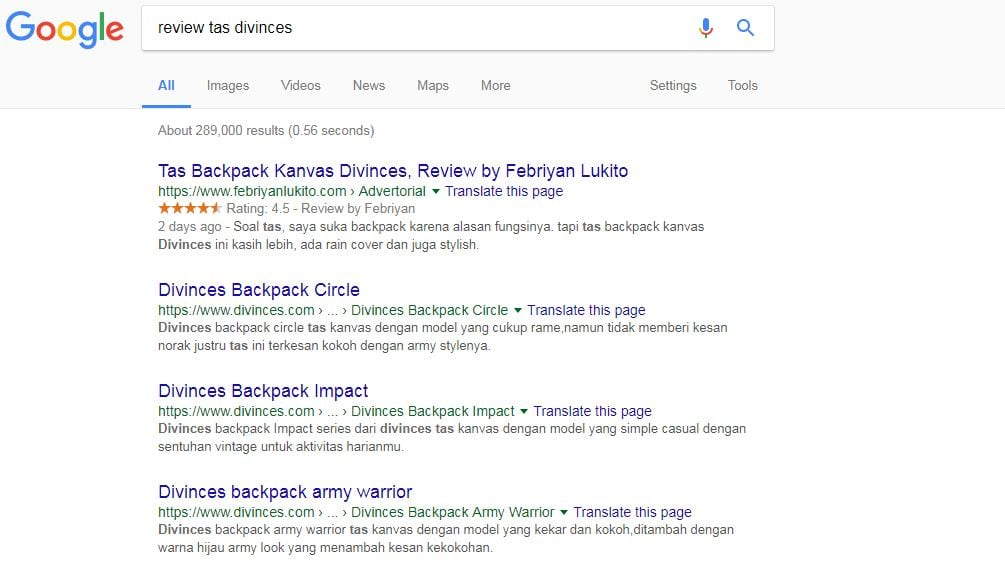 tujuan pencarian komersial - keyword intent commercial