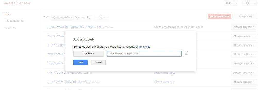cara mendaftarkan google search console atau webmaster di blog
