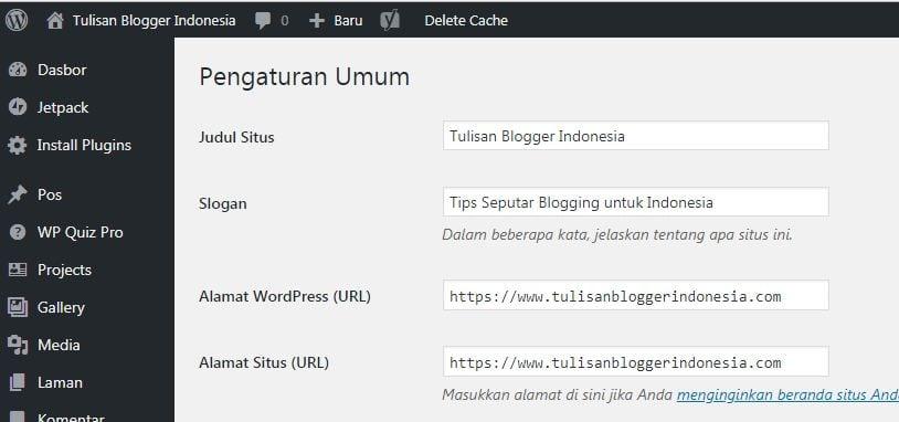 cara mengaktifkan https di blog wordpress