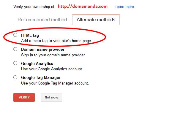 cara verifikasi google search console atau webmaster tools di wordpress self hosted dan blogspot